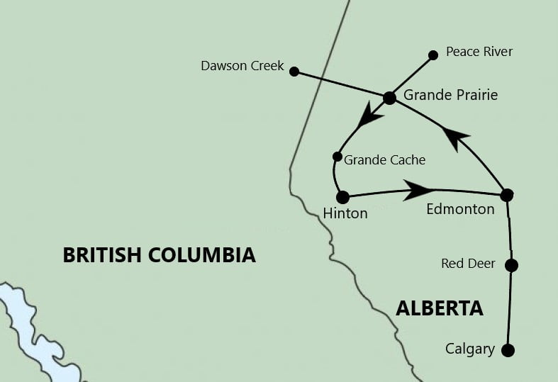 Tour route map for Harrison Hot Springs